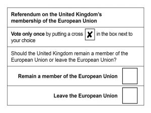 Official polling card
